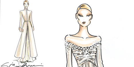 Beatrice Borromeo Sketch Dress By Giorgio Armani | fashion and runway - sfilate e moda | Scoop.it