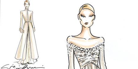 Beatrice Borromeo Sketch Dress By Giorgio Armani | fashion and runway - sfilate e moda | Scoop.it