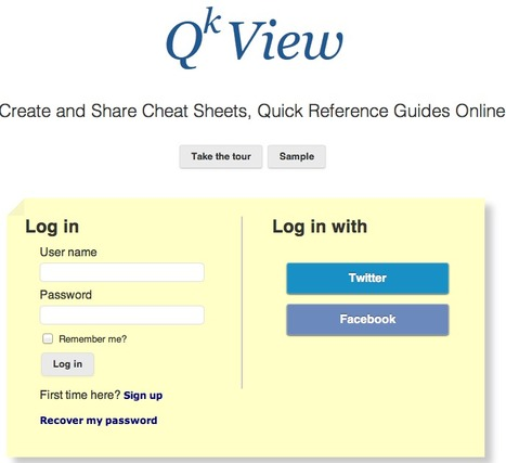 QKView: Create and Share Cheat Sheets, Quick Reference Guides Online | Сервисы для групповой работы | Scoop.it