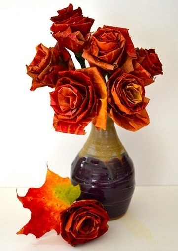 Maple Leaf Roses | Craftspo | Scoop.it