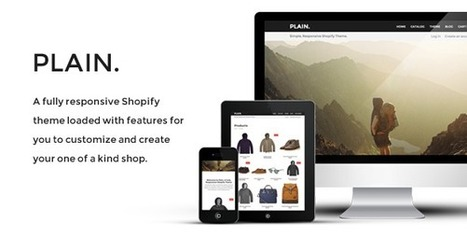 Plain - Responsive Shopify Theme - Download! New Themes and Templates   webb design   Scoop.it
