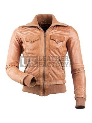 RAMBO Slim-Fit Bomber Leather Jacket | Leather Jackets | Scoop.it