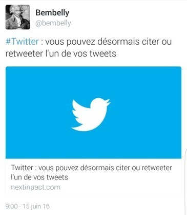 Bref, j'ai retweeté mon propre tweet, c'est désormais possible…. #Twitter | Toulouse networks | Scoop.it