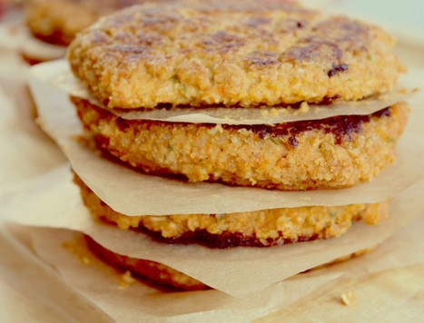 Spicy Bean and Grain Burgers by Simmer & Steam   ¿Vege-Que? Healthy Recipes and Resources   Scoop.it