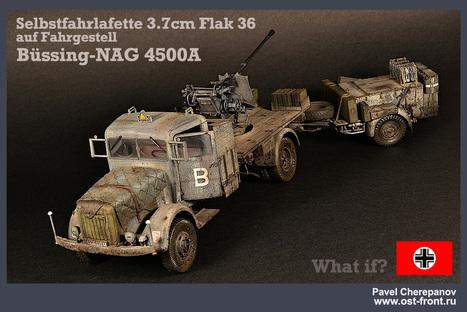 3,7 cm Flak auf Bussing-Nag | Military Miniatures H.Q. | Scoop.it