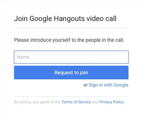 Guest access to Hangouts video calls without a Google account | digital divide information | Scoop.it