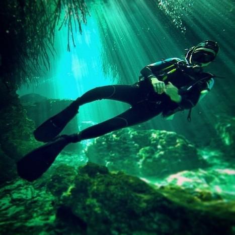 Humberto Rosero — #diving at #casacenote #tulum #light #scuba... | Riviera Maya Real Estate | Scoop.it