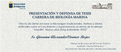 Defensa de Tesis de la Carrera de... - Facultad de Ciencias del Mar de la Universidad de Valparaíso | Facebook | Biologia Marina | Scoop.it