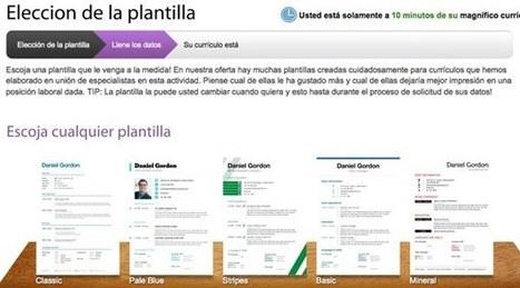 Crear un CV online gratis con excelentes diseños | Famitur | Scoop.it