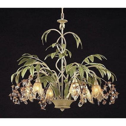 Artistic Lighting6-Light Chandelier in Seashell and Amber Glass | Home Improvement | Scoop.it