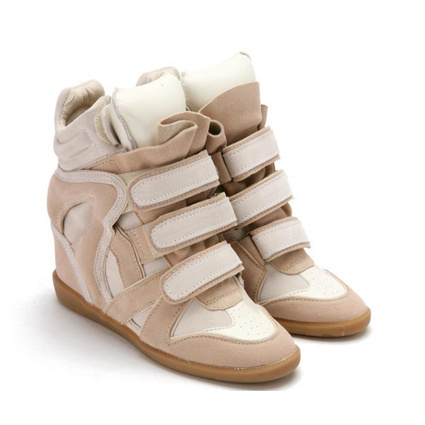 Upere Wedge Sneakers Suede White Tongue Cream - $190.68 | UPERE Wedge Sneakers Show | Scoop.it