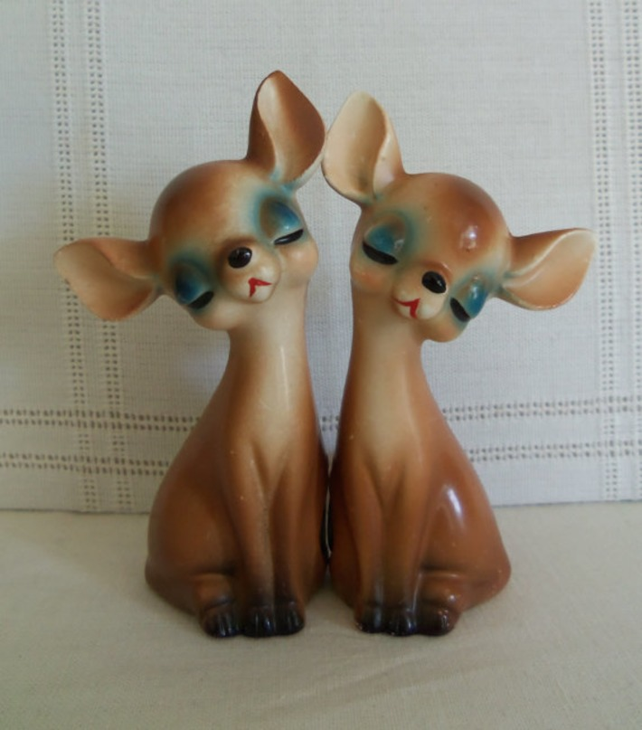1940's Salt & Pepper Shakers-Chihuahua Dog-Sweet-Lego Japan | Kitsch | Scoop.it