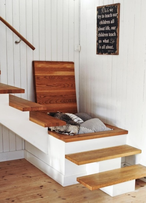 Stair landing storage   Formidable ideas   Scoop.it