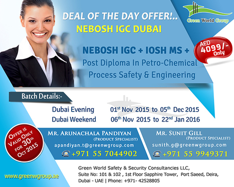 DEAL OF THE DAY OFFER | Nebosh courses | Scoop.it