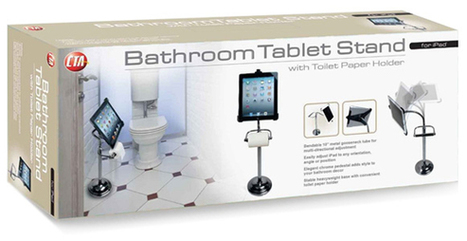 Toilet Paper Holder For Techies: It Doubles As A Bathroom iPad Stand | Anything Mobile | Scoop.it