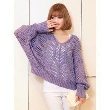 Lilac Knitted Jumper | Japanese Fashion | Scoop.it