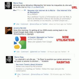 Twitter / Facebook : Vignettes ou Liens Pour Les Hashtags, Noms d'Utilisateur et URLs   Quand la communication passe au web   Scoop.it