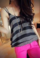 Pinstripe Print Crop Top – Black | Women Fashion | Scoop.it