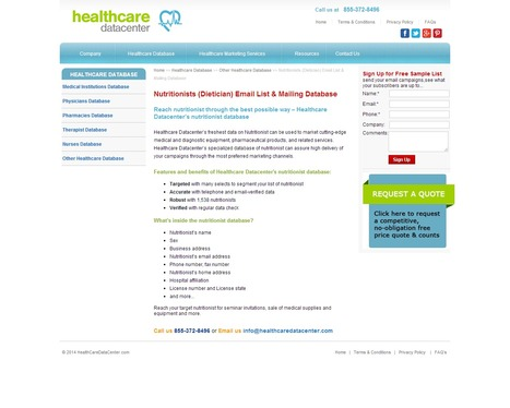 Nutritionists Email Lists from Healthcare Datacenter | Healthcare Datacenter | Scoop.it