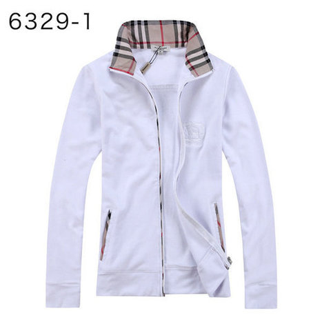 Burberry Fleece Long Sleeve Shirts Zipper Sale For Women White | Burberry Shirts mens and  womens | Scoop.it