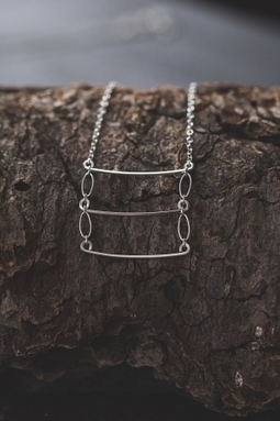 Veronica & Harold - Eve Ladder Necklace in Sterling Silver | Show Pony Boutique | Scoop.it