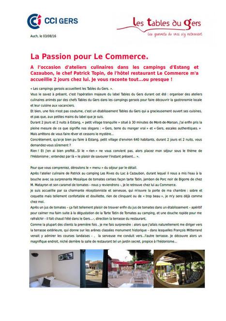 Une passion pour Le Commerce | Les Tables du Gers | Scoop.it