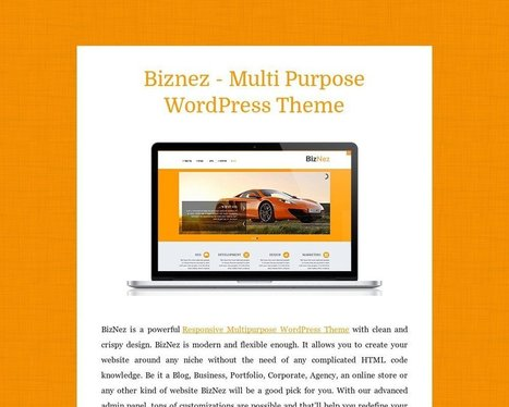 Biznez - Multi Purpose WordPress Theme - Tackk | Sketchthemes | Scoop.it