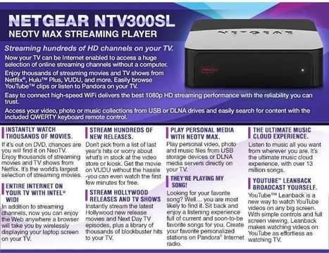 Netgear NeoTV Max Streaming Player - $34.99 | Electronics & Computers Store | Scoop.it