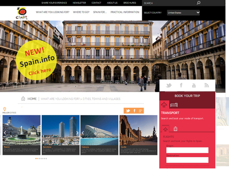 Spain Tourism Unveils New Version of Official Website | Meetings, Tourism and  Technology | Scoop.it