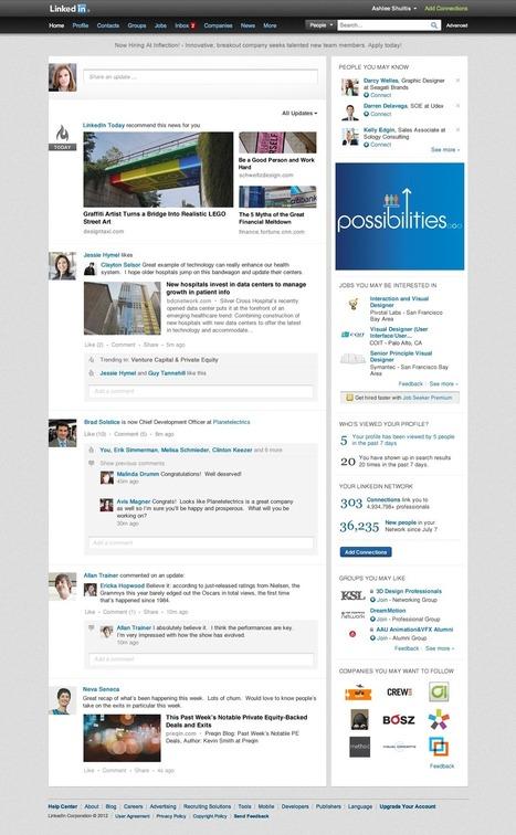 LinkedIn remodèle sa page d'accueil pour qu'elle soit beaucoup plus sociale | Le blog des nouvelles technologies : Web, Technologies, Développement, Interopérabilité | Facebook, Twitter, Google+, Pinterest et compagnie | Scoop.it