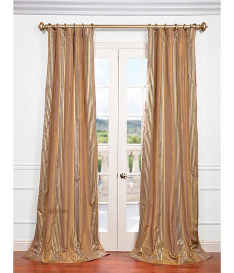 Buy Waterford Gold Silk Stripe Curtains and Drapes | window curtains | Scoop.it