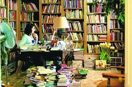 Free Decorator Sara Ruffin Costello on Great Bookshelves | Random cool stuff about libraries | Scoop.it