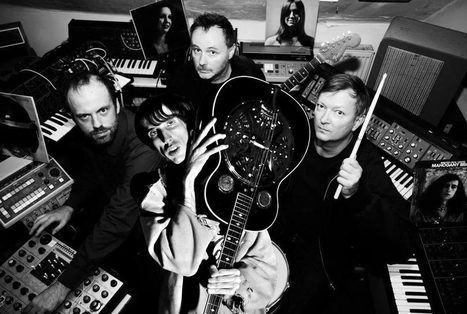 "Stereolab's Tim Gane and Bradford Cox team on Cavern of Anti-Matter's ""Liquid Gate"" -- listen 