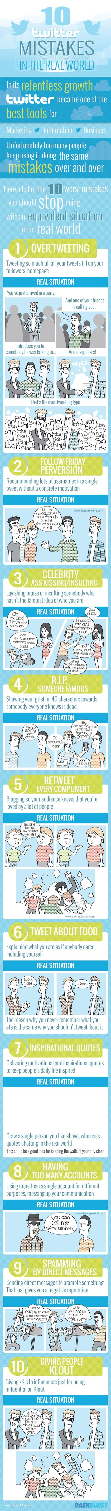 Infographic: 10 Twitter Mistakes -  DashBurst & The Maple Kind | Twitter | Scoop.it