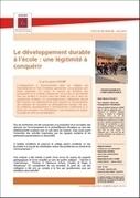Le développement durable à l'école, Une légitimité à conquérir | Economie Responsable et Consommation Collaborative | Scoop.it