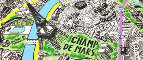 Découvrez cette carte de Paris faite à la main | Arts et FLE | Scoop.it