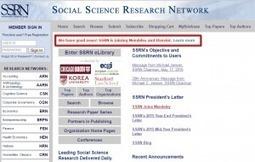 Elsevier achète le site de preprints en sociologie SSRN | Observatoire des technologies de l'IST | Édition électronique | Scoop.it