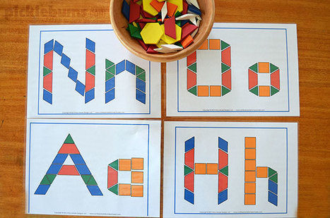 Pattern Blocks - 20 ideas activities & free printables | How to rebuild our Education | Scoop.it