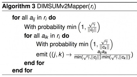 All-pairs similarity via DIMSUM | Twitter Blogs | Bits 'n Pieces on Big Data | Scoop.it