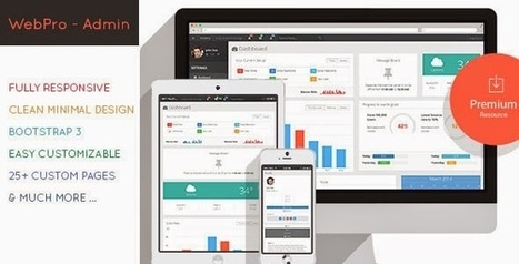 WebPro Admin Dashboard Template - Download New Themes | bootstrap3.0 admin dashboard | Scoop.it