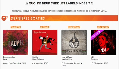 Cd1d : Les nouveautés des labels indépendants - Mars 2016 | Labels CD1D | Scoop.it