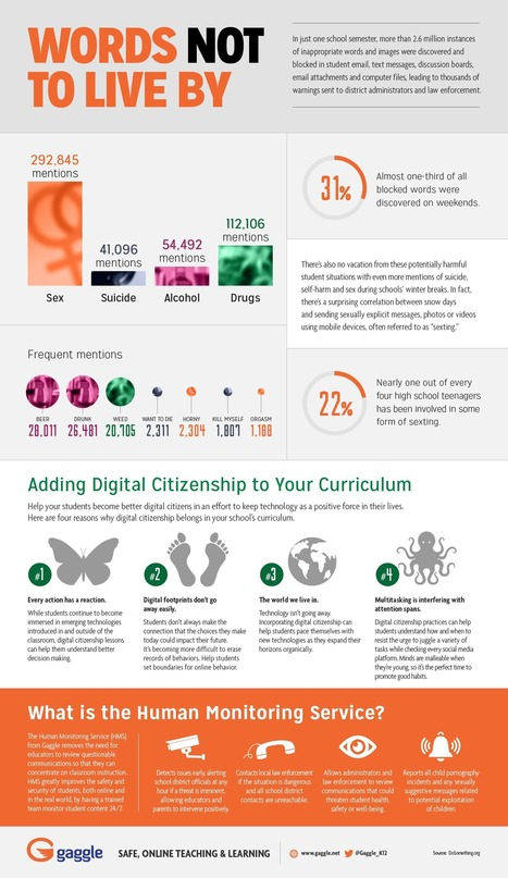 Digital Citizenship & Student Safety | Words Not To Live By | Infographic | Linking Literacy & Learning: Research, Reflection, and Practice | Scoop.it