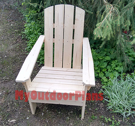 Simple Adirondack Chair | Free Outdoor Plans - DIY Shed, Wooden Playhouse, Bbq, Woodworking Projects | Garden Plans | Scoop.it