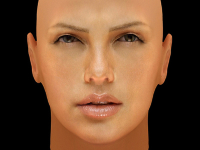 Charlize Theron visage en 3D | 3D Library | Scoop.it