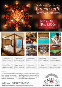 Cambay has come up with delightful Diwali Package. | Hotels & Resorts | Scoop.it