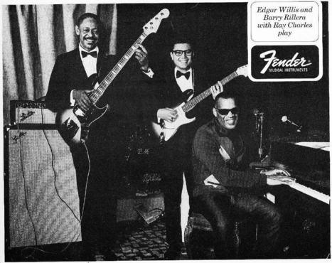 Edgar Willis, Barry Rillera et Ray Charles jouent Fender | DispatchBox | Scoop.it