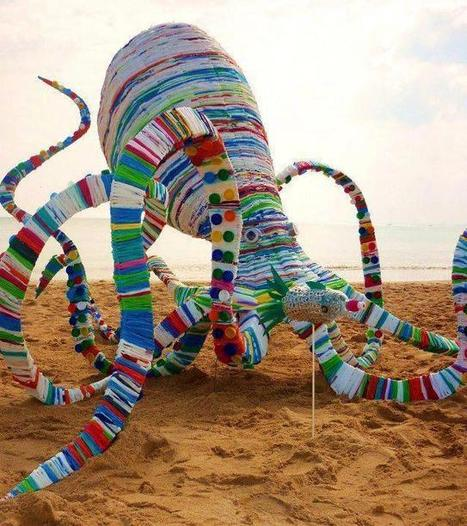 Recycled Giant Octopus | Recycled Crafts | Scoop.it