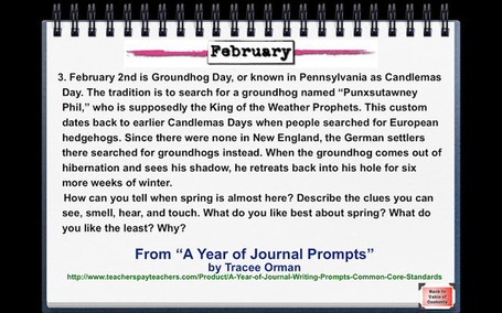Writing Prompt for Groundhog Day | 21st Century skills of critical and creative thinking | Scoop.it