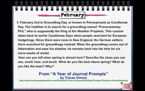 Writing Prompt for Groundhog Day | Common Core Resources for ELA Teachers | Scoop.it