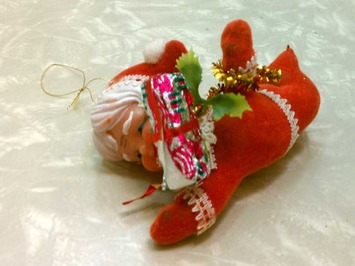 Weird Creepy Kitschy Vintage Flying Baby Mrs Claus Flocked Christmas Ornament Retro | Kitsch | Scoop.it